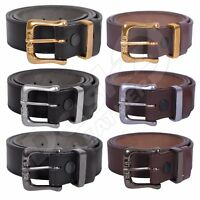 MEN/'S LEATHER BELT Double Hole 100/% GENUINE Brown 30/'/' to 64/'/' Black