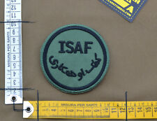 "Ricamata / Embroidered Patch ""ISAF UK"" OD with VELCRO® brand hook"