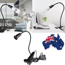 AU Flexible Gooseneck Clip-On Cable Desk Lamp Holder Cord Light Base E27 Bulb