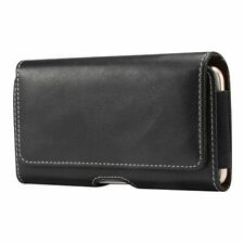 for LG K20 Plus Holster Horizontal Leather with Belt Loop New Design