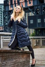 * Thin Goose Down Coat Jkt Parka Quilted Puffer Пуховик sz L / US 10  EU 42 $595