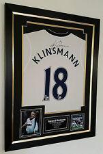 *** Rare Jurgen Klinsmann of Tottenham Signed Shirt Display *** AFTAL DEALER COA
