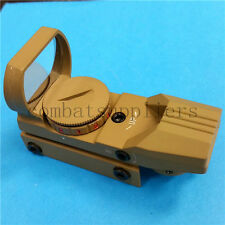 Tactical Red Dot Reflex Sight Red Green Holographic Scope with 20mm Rail Mount