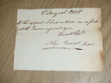 ANTIQUE 1805 Partial Correspondence Letter Note of Appeal John Tronel Legal Doc?