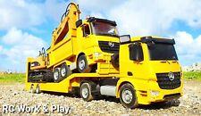 RC Mercedes Low-loader Truck, RC Dump Truck, & RC Huina Excavator
