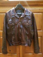 Schott Trucker size M Vintage Burgandy Leather Jacket
