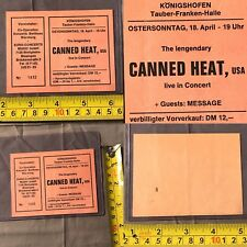 RARE 1975 The Canned Heat Germany CONCERT TICKET STUB Going Up The Country