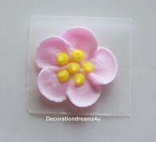 """12 - 3/4"""" Sugar Royal Icing Edible Flowers Cake Cupcake Wedding - Wild Rose"""