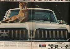 1967 Ford Mercury Cougar - The Man's Car - Vintage 2-Page Ad