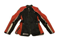 Joe Rocket Motorcycle Blaster Leather Jacket For Womens Padded Sz M Black Red