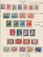 1920-1923 POLAND LOT USED ON PAGE ALBUM SCT.149-152C 154-155A 156-162 163-169B