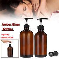250/500ML Amber Glass Essential Oil Spray Bottles Sprayer Trigger Press Head