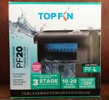 Top Fin Silenstream PF20 Power Filter 10-20 Gallon Aquarium Filter-New
