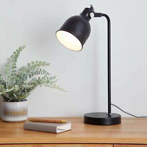 VINTAGE RETRO STYLE MATTE BLACK INDUSTRIAL OFFICE DESK LAMP TABLE LIGHT BEDSIDE