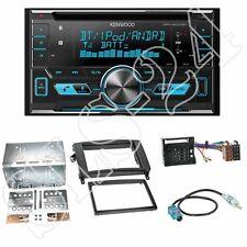Kenwood DPX5000BT CD Radio +Mercedes Viano/Vito 2-DIN Blende schwarz+ISO-Adapter