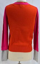 PRINCESS VERA WANG MULTI COLOR Cardigan button sweater fine knit top V neck S
