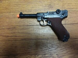 "VINTAGE, ORIGINAL NICE 1960s MARX PLASTIC ""GERMAN P.08 LUGER "" TOY CAP GUN"