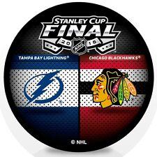 2015 NHL Stanley Cup Finals Puck Tampa Bay Lighting vs Chicago Blackhawks