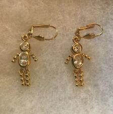 Giftboxed - Dangle 1 3/4 In Little Boy Pierced Earrings - New -