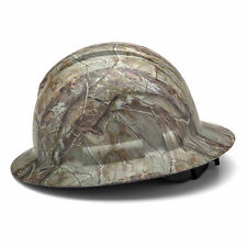 Pyramex Full Brim Hard Hat with 4 Point Ratchet Suspension, Camo