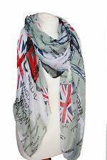 Large British Flag Scarf Sarong Patriotic English Ladies  Union Jack London