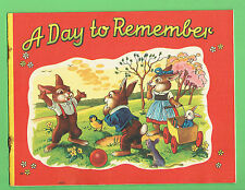 #D264.  CHILDRENS STORY BOOK - A DAY TO REMEMBER, RABBIT FAMILY