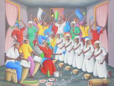 VOODOO Peinture Haïtienne artiste Michel ROUANEZ 20x24inc-Haïtien Art Haïti