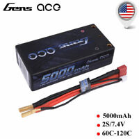 Gens ace 4200mAh 60C 2S 7.4V Lipo Battery Pack Hardcase Deans T Plug For RC Cars