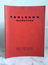 Catalogue sales Paintings modern Asuarelles Drawings 9 December 1969