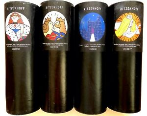 Ritzenhoff artist series beer glasses mint condition set of 4, never used