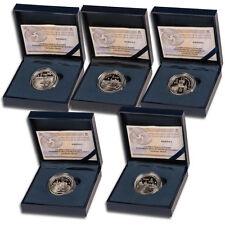 ESPAÑA colección 5 x 5 euro plata 2015 proof II SERIE UNESCO CIUDADES PATRIMONIO