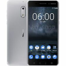 "Nokia 6 Dual SIM 64GB Silver 5.5"" 4GB RAM 16MP Android Phone USA FREESHIP"
