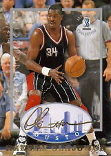"HAKEEM OLAJUWON 1997 ""STRONGBOX"" AUTOGRAPHED COLLECTION CARD! 2X NBA CHAMP!!"