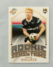 2007  RUGBY LEAGUE ROOKIE SENSATION CARD RS6  PETER WALLACE, PENRITH PANTHERS
