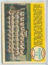 1958 Topps Baseball #174 K.C. Athletics Unmarked Back