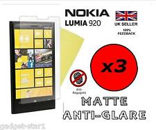 3x HQ MATTE ANTI GLARE SCREEN PROTECTOR COVER LCD FILM GUARD FOR NOKIA LUMIA 920