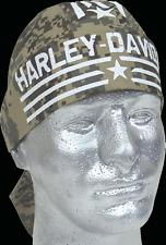 HARLEY DAVIDSON FAT BOY LOGO DIGITAL CAMO HAT  HEADWRAP