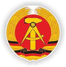 DDR Wappen Deutschland Aufkleber Deutsch Motorrad Flagge Auto Autoaufkleber