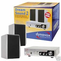 Dynavox Dream Sound II - Lautsprecher Verstärker Set SILBER Dreamsound