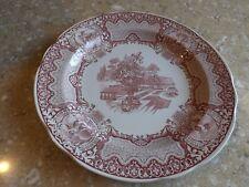 "Spode Red Victorian Seasons 10 1/2"" Dinner Plate EUC"