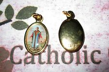 Saint St.Thomas More Italian 1 inch Gold Tone and Enameled - Medal