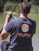 Korda Guru Brush Logo Heather Charcoal Coarse Carp Match Fishing Tee - All Sizes