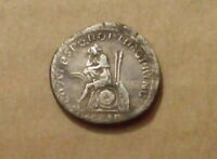 Emperor Trajan ancient coin victory over Dacia, silver denarius Dacia capta