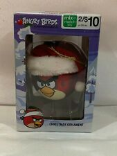 ANGRY BIRDS™ RED BIRD BALL WITH SANTA HAT CHRISTMAS ORNAMENT TF