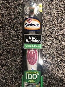 1 ARM & HAMMER Spinbrush Pro + Clean Powered Toothbrush Soft Bristles-Colors