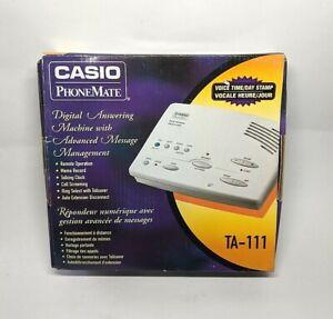 Casio PhoneMate TA-111 Answering Machine Vintage Phone Mate Time Day