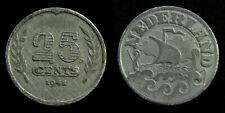 Netherlands - 25 Cent 1941 zink