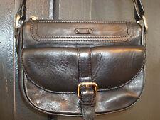 Black Leather Danier Shoulder / Crossbody Bag