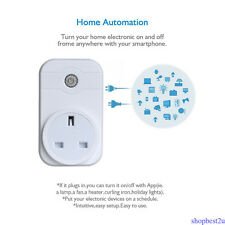 UK Plug Wifi Phone APP Remote Control Timer Switch Smart Socket w/ Amazon Alexa