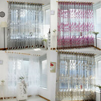 Soft Wheat Sheer Curtain Tulle Window Clear Voile Drape Valance Panel Fabric RO